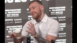 CONOR McGREGOR DRAWS COMPARISONS BETWEEN MAYWEATHER & ALDO - SAYS HE'LL BE NOTHING AFTER FIGHT