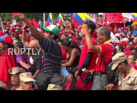 Venezuela: Protests are 'order of the empire' - Maduro addresses pro-govt rally