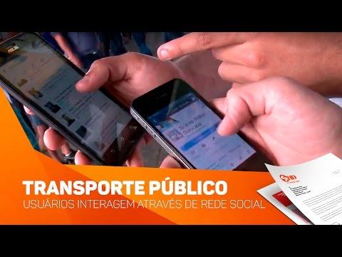 Transporte público: usuários interagem através de rede social - TV SOROCABA/SBT