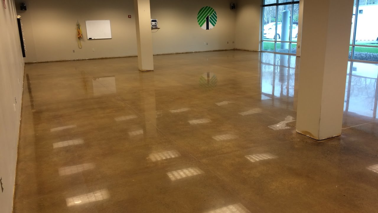 How To Polish And Stain Concrete Properly Floor Solutions Inc