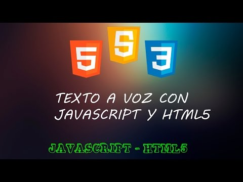 API Google Speech - Texto A Voz Con Javascript