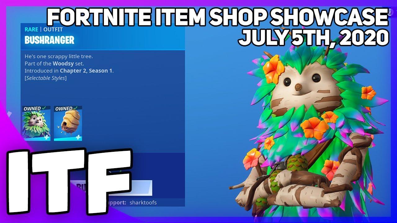 Fortnite Item Shop *NEW* BUSHRANGER STYLES! [July 5th, 2020] (Fortnite Battle Royale)