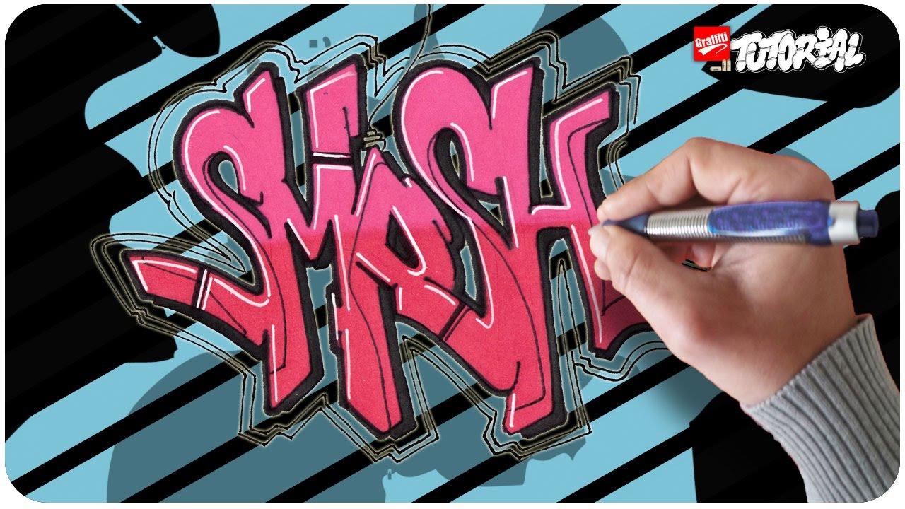 Smosh Simple Funky Style Graffiti Tutorial Youtube