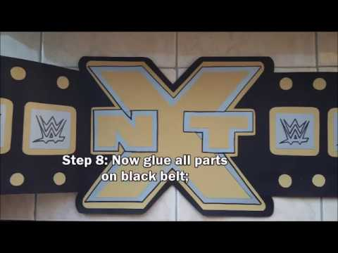 How to make NXT championship belt