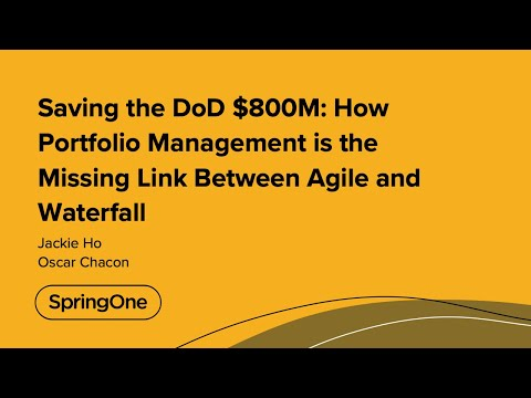 Saving the DoD $800M: How Portfolio Management is the Missing Link Between Agile and Waterfall
