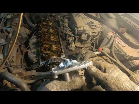 honda двигатель d15b замена ремня грм помпы