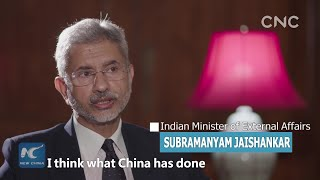 One-on-one with Indian FM: China's progress important lessons for India