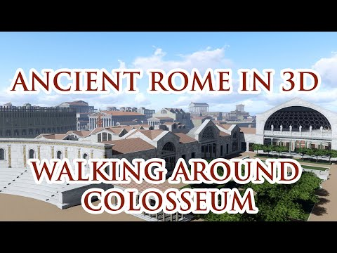 """HISTORY IN 3D"" - ANCIENT ROME 320 AD - 3rd trailer ""Walking around Colosseum"""