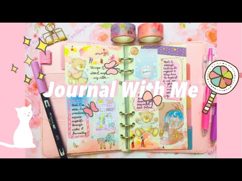 Journal With Me | Kawaii Journaling Love Challenge | Things I Love About Myself / My Life