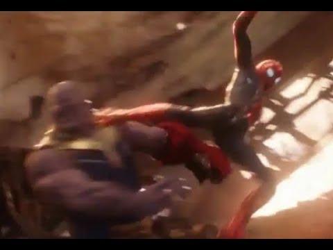 AVENGERS INFINITY WAR Spiderman vs Thanos TV Spot NEW ...