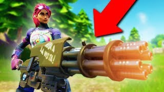 DESTROYING PEOPLE WITH THE NEW MINIGUN! *HILARIOUS!* | Fortnite Battle Royale