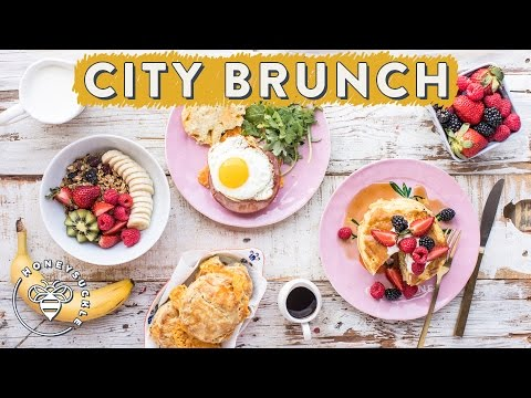 Springtime City BRUNCH at home for #BuzyBeez 🍳