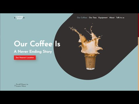 How To Make A Beautiful Coffee Shop Website Using Pure HTML and CSS