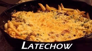 This Video Is Not Available.     Baked Philly Cheesesteak Penne Pasta - Latechow: Episode 5