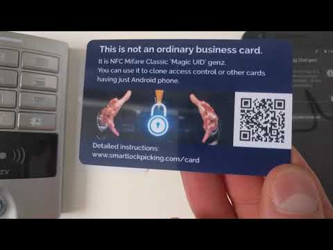 Magic NFC business card