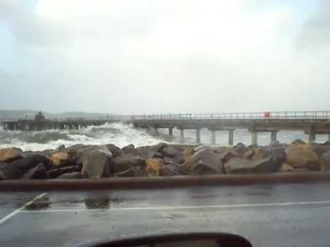 Hunterston Jetty on a windy day