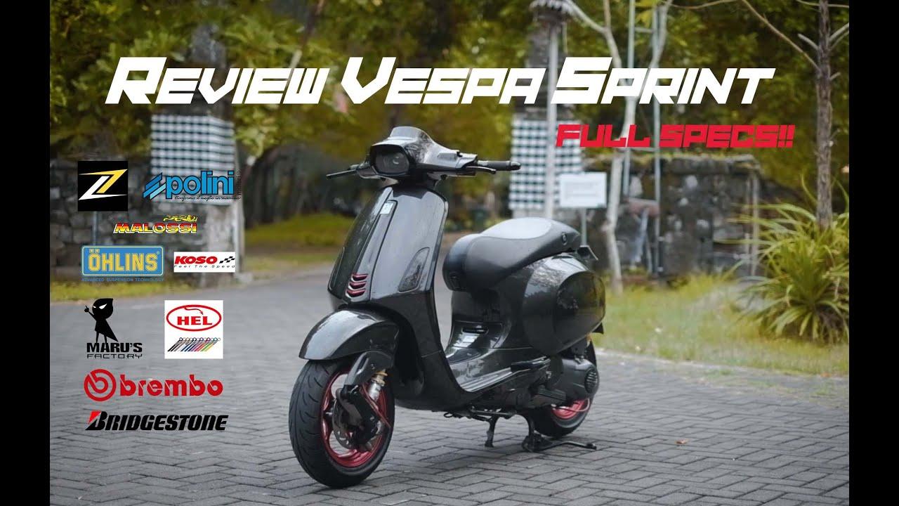 REVIEW VESPA SPRINT HEDON 183CC!! || ZELIONI, MARUS ...