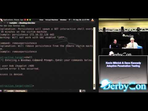 Kevin Mitnick + Dave Kennedy -- Adaptive Penetration Testing