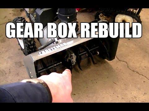 Complete Snowblower Auger Gear Box Rebuild!