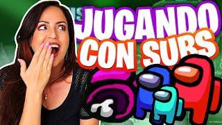 Jugando Among Us con Subs 🔥 Qué MALOS son Conmigo 😅 Suscriptores y Serguidores 😂 Sandra Cires Play