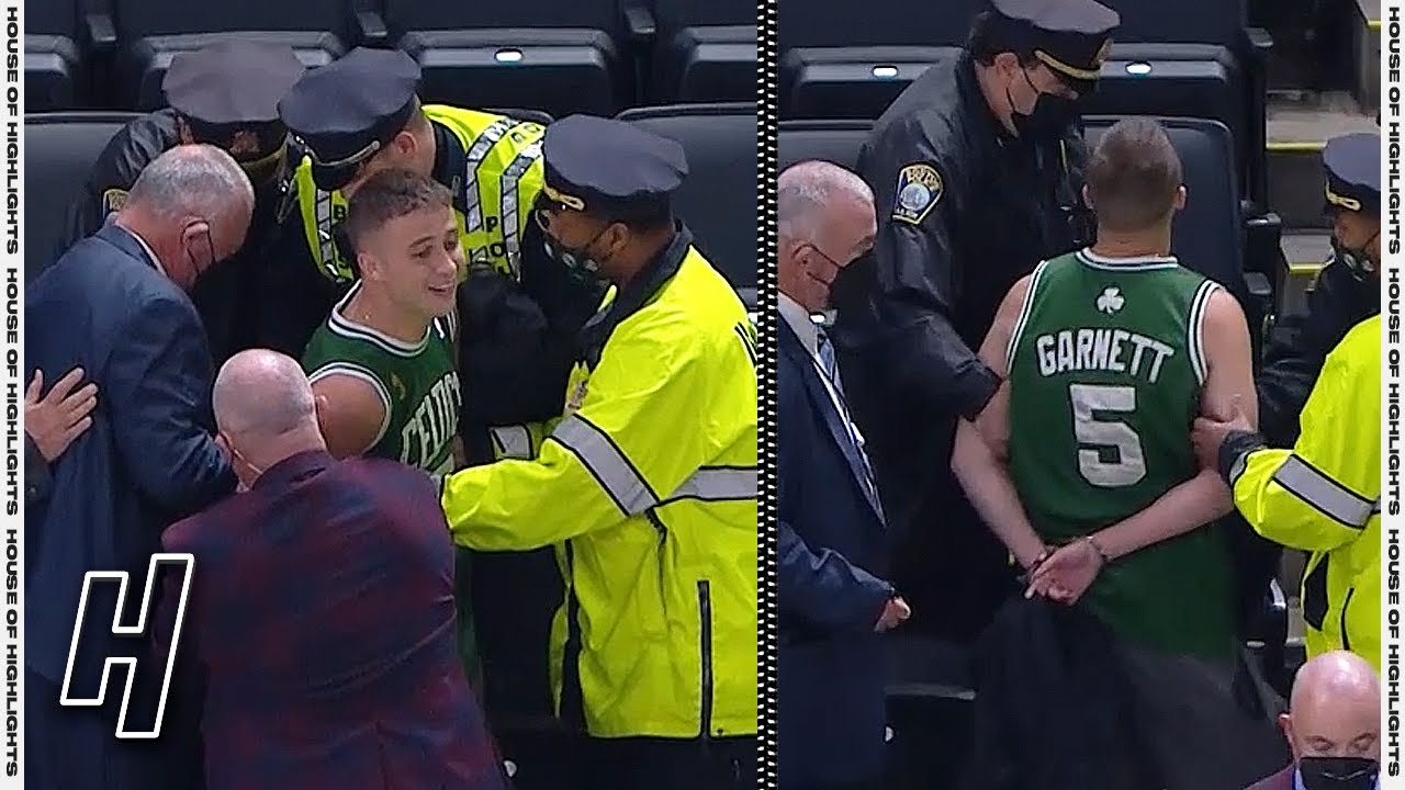 Celtics fan arrested after tossing water bottle at Kyrie Irving