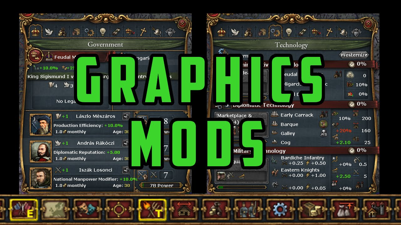 Graphics Mods for Europa Universalis 4