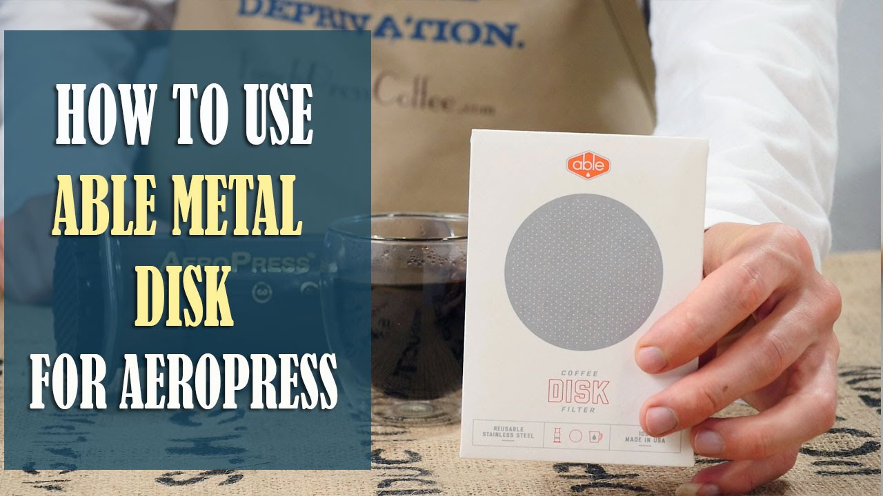 How To Make Great Coffee With Able Metal Disk Filter For Aeropress