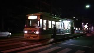 広島電鉄1900形1907号&800形810号&1900形1901号 宇品四丁目にて