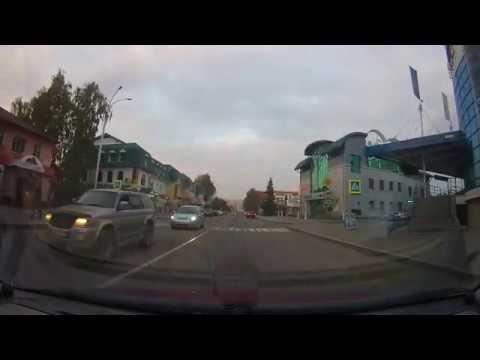 Белокуриха. Проезд через город, курортная зона, улица Славского, западная часть города.