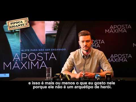 """Coletiva de Imprensa com Justin Timberlake """"Aposta Máxima"""" / Pipoca Gigante"""