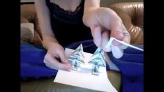 Popup Money Origami  Xmas Card