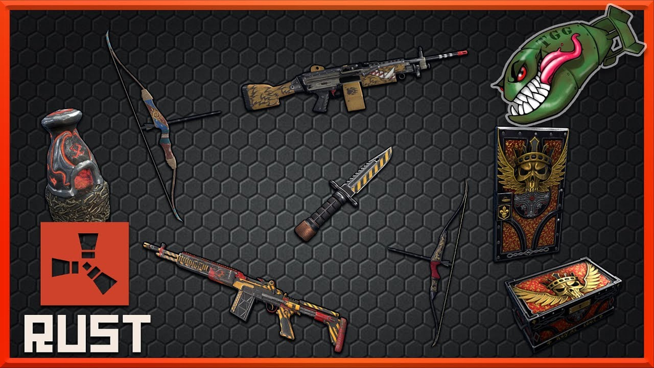 Rust Skins | Beast M249, From Hell Furnace, Royal Set, Bow Skins! #116  (Rust Skin Preview)