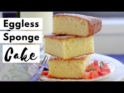 Best Eggless Sponge Cake | Eggless Hot Milk Cake