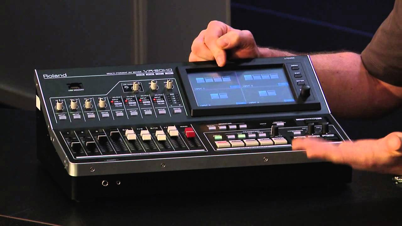 A USB Multi-Format Audio/Video Mixer from Roland - YouTube