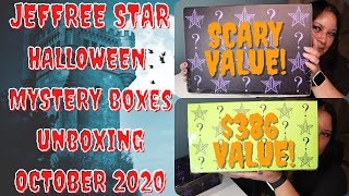 JEFFREE STAR COSMETICS HALLOWEEN MAKEUP MYSTERY BOXES | Unboxing & First Impression | $386 Value