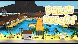 ROBLOX │ bem-vindo ao Bloxburg-Beach Resort (110 clip Speed)