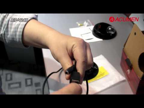 AiP-V24K-05Y1B IP Camera Easy Setup from Ai ACUMEN / Лёгкость установки IP камеры