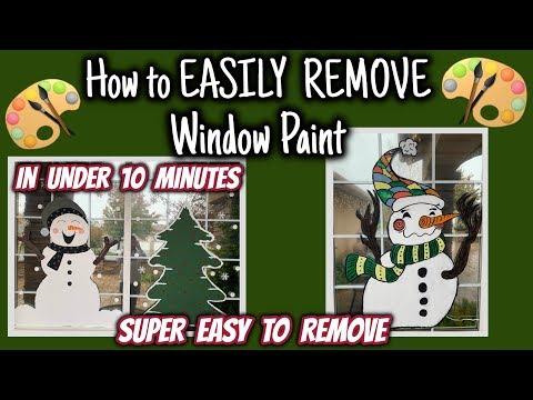 How To EASILY REMOVE Window Paint In UNDER 10 Minutes | Window UPDATE