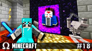 Our First NETHER ADVENTURE DELIRIOUS went LAVA DIVING  Minecraft 18 w H2O Delirious amp Squirrel