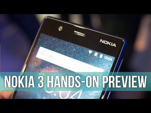 Nokia 3 hands-on: 140 bucks, pure Android!