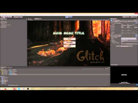 how to make a menu scene in unity 5