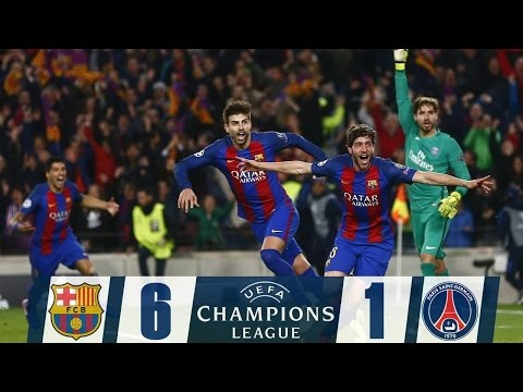 FC Barcelona 6 - 1 PSG ( Barca !! God OF Football !! 2017 )