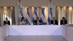 Renegociación de la deuda pública - Anuncio del presidente Fernández y el ministro Guzmán