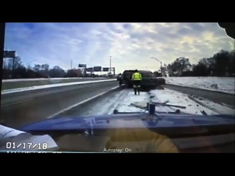 Car Slams into Tow Truck, Flies Off Truck