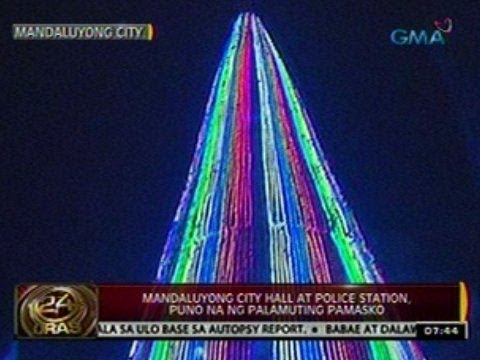 24 Oras: Mandaluyong City Hall   at police station, puno na ng   palamuting pamasko