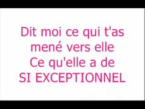 Andrée Watters - Si Exceptionnel With Lyrics.mp4