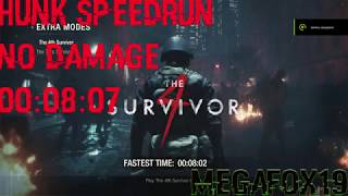 Resident evil 2 Hunk Speedrun No damage 00:08:07