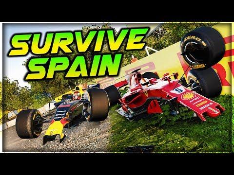 SURVIVE THE SPANISH GRAND PRIX - Extreme Damage Mod F1 Game