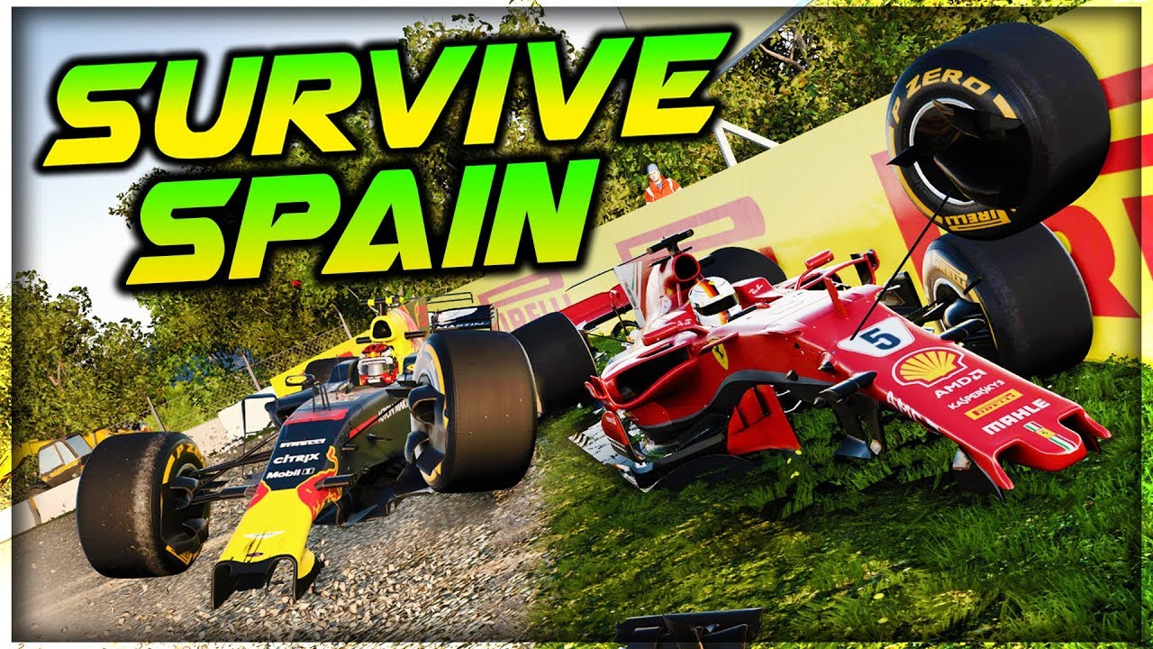 SURVIVE THE SPANISH GRAND PRIX - Extreme Damage Mod F1 Game