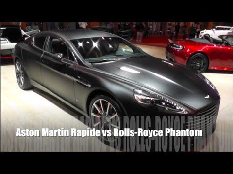 Aston Martin Rapide 2015 Vs Rolls Royce Phantom 2015 Youtube